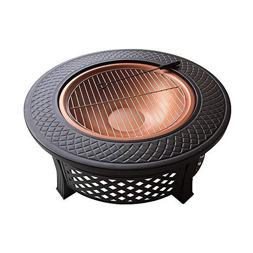 YWSZJ Estufa al Aire Libre Barbacoa Ronda de Carbono Patio La Parrilla de carbón Estufa Interior del hogar Calefacción brasero de Mesa Barbacoa