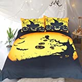 Sleepwish Happy Halloween Duvet Cover Pumpkin Bats Haunted Print Festival Decorations Bedding Funny King Size