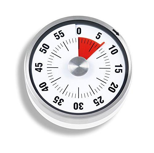 ADE TD1703 Minuterie de Cuisine, Plastique, Blanc, 7,8 cm