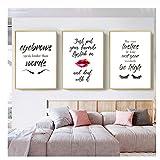 xwwnzdq Mode Wandkunst Wimpern Lippenstift Augenbrauen