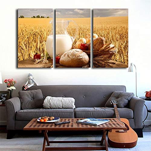 WSNDG HD tarwe brood patroon canvas schilderij huisdecoratie kunst schilderij zonder fotolijst 40cm*70cm*3(no frame) Ad