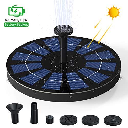 Ankway Solarbetriebene Wasserpumpe für Vogeltränken, neue schwimmende 2,5W Solar-Wasserpumpe mit Batteriefach für Swimmingpools, Gärten, Teiche, Springbrunnen, Vogeltränken