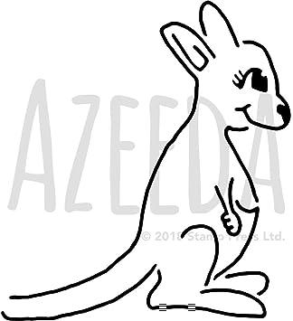 Ausmalbild Tiere Kanguru Zum Ausmalen Kostenlos 1