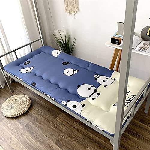 Colchones Japonés Futon Mattress Algodón, Piso de los niños Futon Colchón, 3 cm Tatami Tatami Almohadilla para dormir Plegable, Roll Up Cojín de cama para dormitorio de estudiantes, tumbona de piso Ca