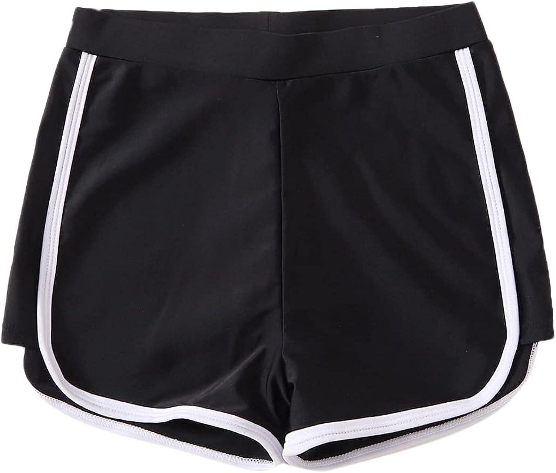 Romwe Girl's Trunk Shorts Beach Swim Shorts Sport Board Shorts