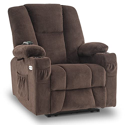 Mcombo Electric PowerRecliner Chair with Massage & Heat, Extended...