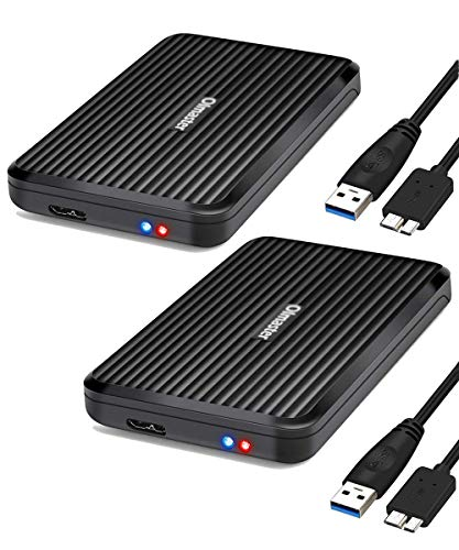 OImaster Pack 2 SSD Enclosure USB 3.0 for 2.5 inch HDD SSD … (2Pack_Black)