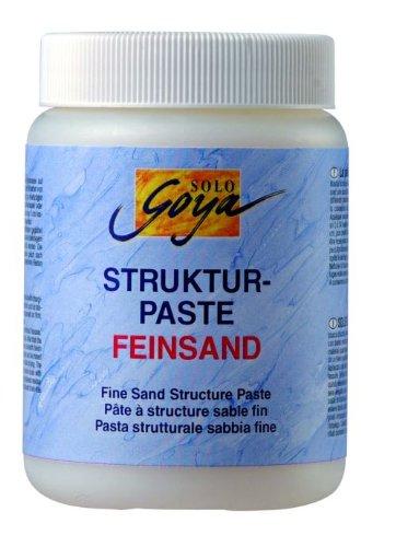 Kreul 85810 - Solo Goya Acrylic Medium, Strukturpaste Feinsand, pastose Spachtelmasse, mit feinkörniger sandartiger Oberflächenstruktur, einfärb- und übermalbar, 1000 ml Dose, weiß