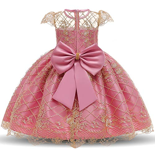 Realde--Baby Mädchen Midi Kurz Kleid Ziemlich Stickerei Ärmellos Prinzessin Kleid Gelb Blau Abendkleid Sommerkleid Cocktailkleid Festlich Babybekleidung Partykleid