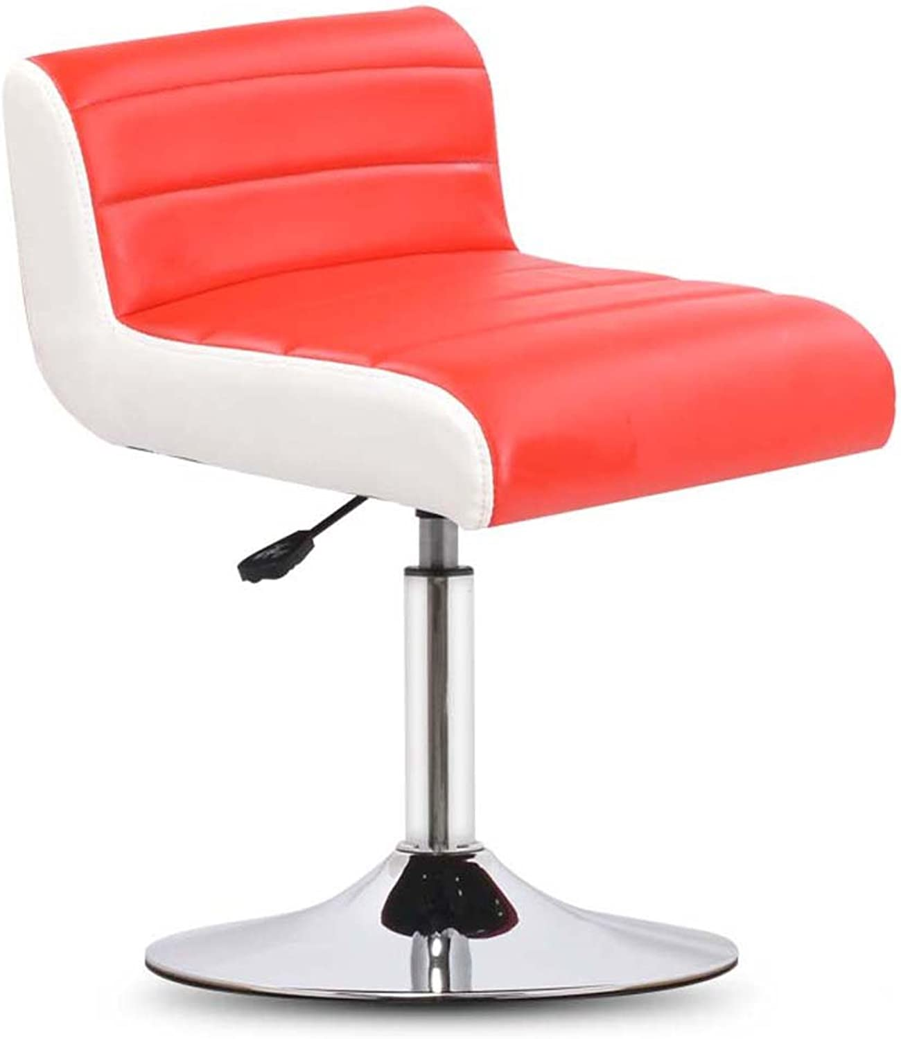 JAD@ Bar Stool Chair Lift redating bar Stool backrest Stool Barstools (color   Red)