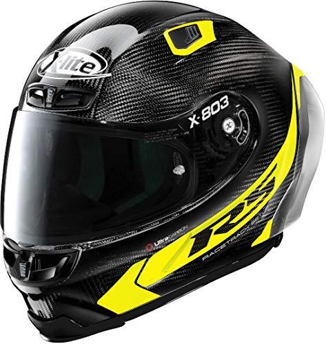 X-Lite X-803 RS Ultra Carbon Hot Lap casco Nero/Giallo XS (55)