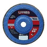 Urrea Herramientas FD456P Disco Laminado Óxido de Zirconio Plast 4 1/2', X 7/8' 13,300 Rpm, Grano 60
