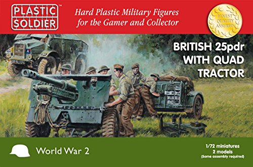 Plastic Soldier Company - WW2 British 25pdr and Morris Quad Tractor (1/72 scale)