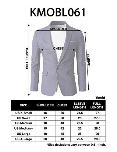 H2H Mens Fashion Linen Blazer Jackets BLUE US M/Asia XL (KMOBL061)