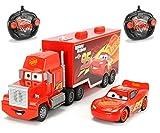 "Dickie Toys 203088002 - ""Cars 3 Turbo Racer Mack Truck + Lightning McQueen"", RC Fahrzeug Set, ferngesteuerter LKW, ferngesteuertes Auto, 1:24, 46cm"" -"