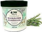 Balsamo di cavallo con 10 erbe, allevia e rilassa, per la schiena, articolazioni, spalle e muscoli, gel di 250ml
