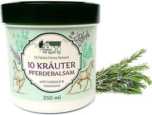 Balsamo di cavallo con 10 erbe, allevia e rilassa, Crema per mal di schiena, dolori...