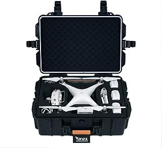 HUL Military Spec Waterproof Hard Shell Case for DJI Phantom 3 Standard / SE / Professional / Advanced / 4K / Phantom 4 / Phantom 4 Pro Drones (Orange)