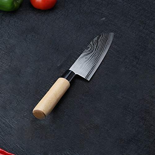 Cuchillo del cocinero Damasco Cuchillos Japón Chef Santoku acero inoxidable cuchillo de carne del corte de verduras rebanar frutas Sushi Sashimi