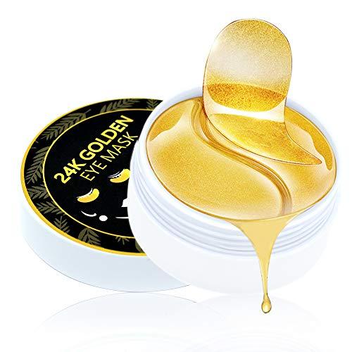 Under Eye Patches,24K Gold Repair & Black Pearl Brighten & Green Tea Moisturizing Collagen Under Eye Mask,Complete Treatment for Eye Bags & Dark Circles & Wrinkles & Fine Lines & Anti-Aging (60Pcs)
