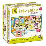 Ludattica - Colección Baby Puzzle – Cachorros – Doble cara – 2 – 5 años.