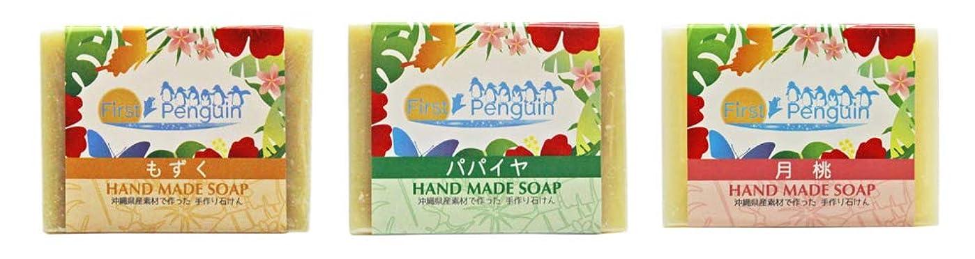扱いやすいホバー普通に手作り洗顔石けん (もずく、パパイヤ、月桃)