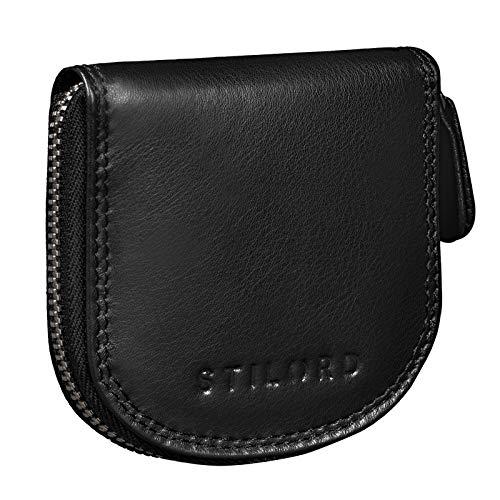 STILORD 'Cash' Mini Portafoglio Uomo Pelle Vintage Portamonete Slim Wallet Mini Scatola Portafoglio Piccolo in Pelle, Colore:nero