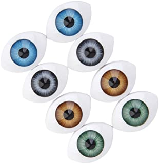 8pcs 12mm Iris Oval Hollow Doll Dollfie Eyes Eyeballs
