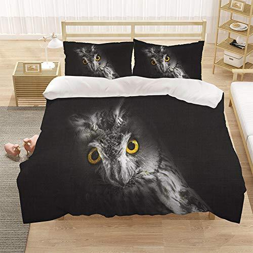 Cubierta de la colcha de cama Cubierta de la colcha de impresión 3D (con la abertura y cierre de la cremallera), 3 piezas (1 cubierta de colchas + 2 pillowcasas)-veintiuno_228 * 228cm
