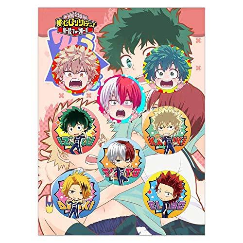 redCherry Anime broschen Button Badges pins Set für Kleidung Rucksack federmäppchen, 8 Teile/Satz(My Hero Academia)