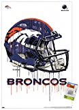 Trends International NFL Denver Broncos - Drip Helmet 20 Wall Poster with Push Pins
