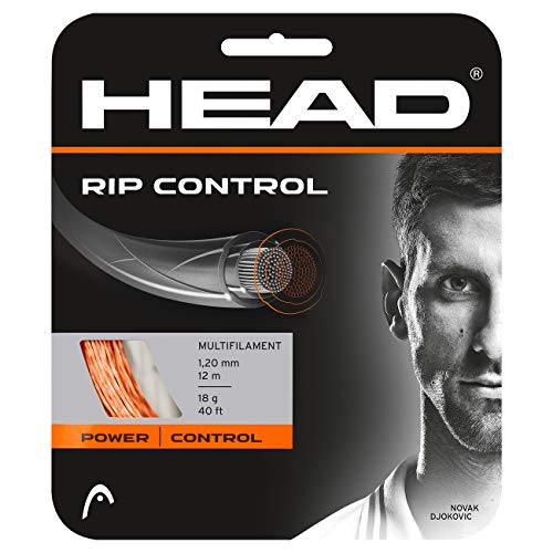 Head Rip Control Cordajes de Raquetas de Tenis, Unisex Adulto, Orange, 18
