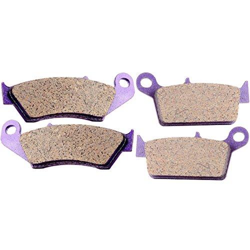 ECCPP FA131 Brake Pads Front and Rear Carbon Fiber Replacement Brake Pads Kits Fit for 2000-2009 GAS,1993-2009 Honda,1995-2007 Kawasaki,1996-2016 Suzuki,1998-2002 Yamaha