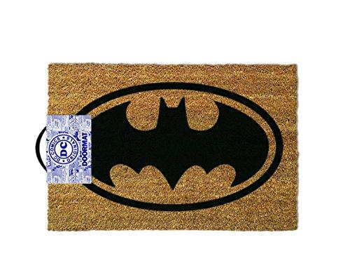 ootb Alfombra para Puerta, Batman, Poliéster, Marrón, 40 x 60 cm