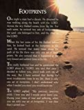 bribase shop Inspirational Footprints Poem in the Sand Poster 32 inch x 24 inch/17 inch x 13 inch