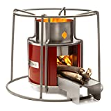 Affirm Global IT117469B-Red Wood Burning EZY Stove, Red