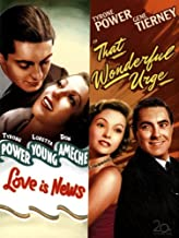 That Wonderful Urge DVD (1948) -Tyrone Power, Gene Tierney / Love is News (1937) Tyrone Power Double Feature Movie