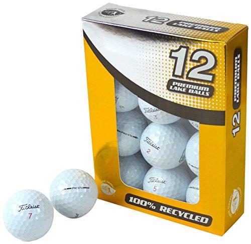 Second Chance Unisex Titleist Pro V1X Lake Golf Bälle (12Stück), weiß