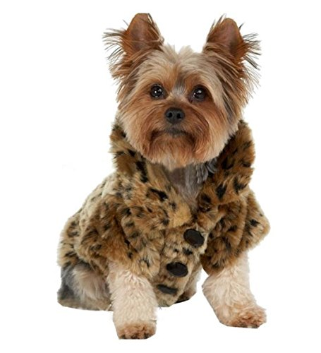 nalmatoionme Hund Jacke Luxus Leopard (braun, S)