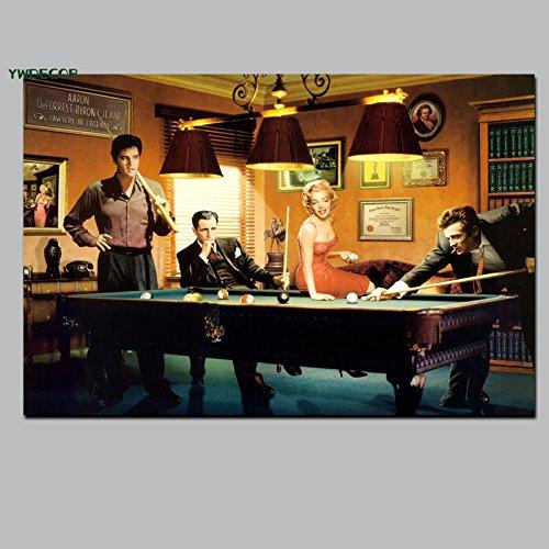 ganlanshu Rahmenloses Gemälde HD Art Canvas Cooles Action-Spiel Pool Wohnzimmer PretendCGQ6964 50X75cm