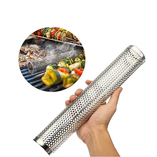 Best Price Saulee Stainless Steel BBQ Pipe for Grill Barbecue Wood Pellet Premium Pellet Smoker Tube...