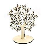 Árbol de la Vida Expositor de Pendiente,Árbol de Madera Balsa,Árbol Artificiales con Burro Tronco Decoración del hogar (B-L, Grande)