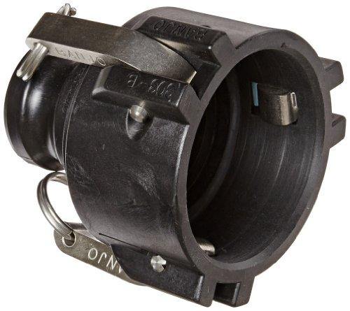 "Banjo 303B200A Polypropylene Cam & Groove Fitting, 3 x 2"" Female Coupler x Adapter"