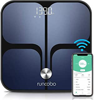 Weight Scale - Wi-Fi Bluetooth Auto - Switch Smart Digital Scale, 14 Body Composition Monitor with IOS, Android APP, Support Unlimited Users, Auto - Recognition, Bathroom Body Fat Scale for Weight BMI