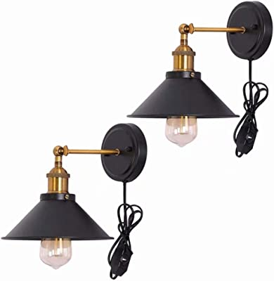 Lights & Lighting Led Lamps Efficient Industrial Vintage Edison Old Fashion Antique Glass Wall Sconce Metal Base Cap For Bar Coffee Shop Bedroom Lighting Wall Lamps