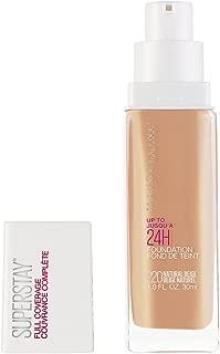 Maybelline Super Stay Full Coverage Liquid Foundation Makeup, Natural Beige, 1 Fl Oz