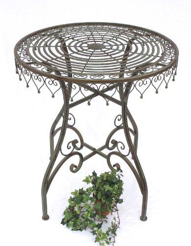 DanDiBo Table Table de Jardin Malaga 12184 Table Bistro 68cm Desserte Méala Fer