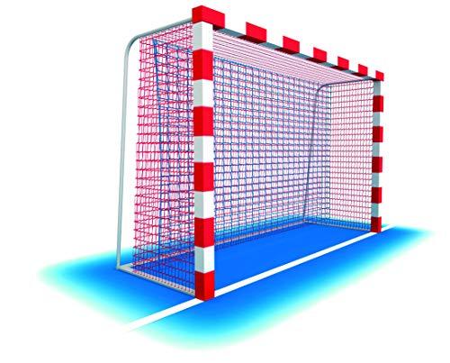 Cordamanía Balonmano Sala Red para porterías de Futbol, Adultos Unisex, Blanco, 3,00x2,00x1,00x1,00