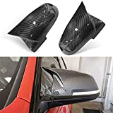 Door Rearview Mirror Cover Cap Replacement for BMW F20 F22 F23 F30 F31 F32 F33 F36 F87 M2 X1 E84 (Carbon Fiber)