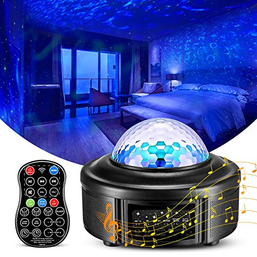 Star Projector Night Light with Remote Control,Galaxy Ceiling Projector Nightlight for Girl Babies,Kid and Adult in Bedroom,Room Decor Night Lamp with Music and Colors Changing,Star Lighting